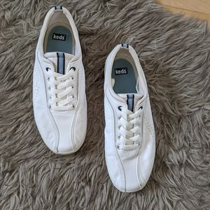 KEDS - White Leather Sneaker